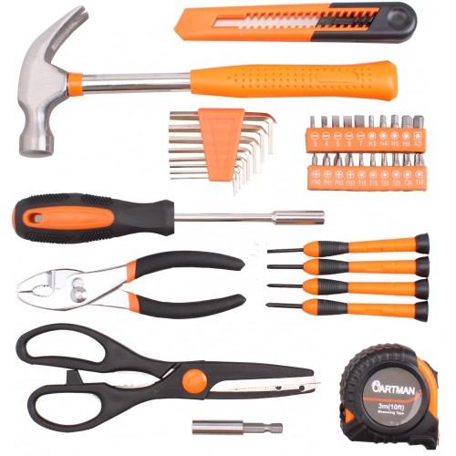 02f2fc2519c ... Cartman Orange 39-Piece Tool Set - General Household Hand Tool Kit with Plastic  Toolbox